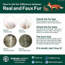 infographichow to tell the difference between real and faux fur i redd it