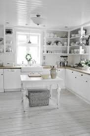 Shabby Chic Country Kitchen Shabby Chic Kitchen Ideas With Small Table Grey Board Floors W