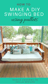 awesome how to make a swing bed d i y pallet grillo design thi for the porch out