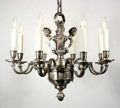 antique silver chandelier sold incredible plated