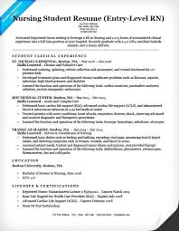 New Grad Rn Resume Sample Entry Level Nursing Student Recent