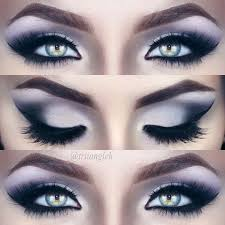 black and silver smoky eyes