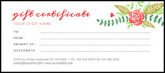 Make Your Own Gift Certificate Templates Free Make Your Own Gift Certificate Template Online Free Printable