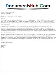 job application for web developer com application letter for the post of web developer