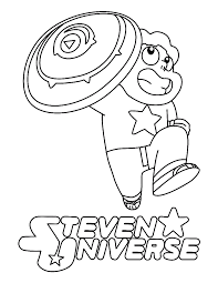 Steveniverse Coloring Pages Pearl Garnet Fusions Free Printable