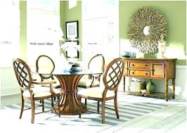 large round rustic dining table