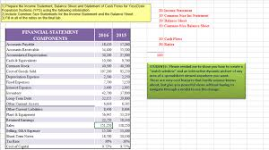 Solved 1 Prepare The Income Statement Balance Sheet And