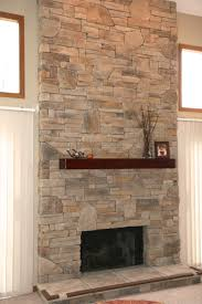 Comfy Stone Fireplaces For Home Interior Design: Cozy Stone Fireplaces For  Home Interior Design With