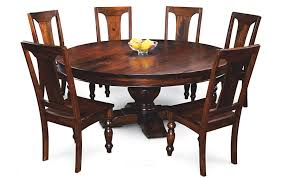 picturesque design solid wood round dining table endearing canada kitchen chairs 42 48