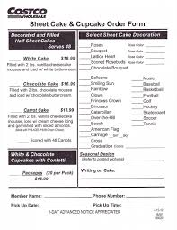 Costco Cake Order Form Cakepins Cams Birthday In 2019 Walmart