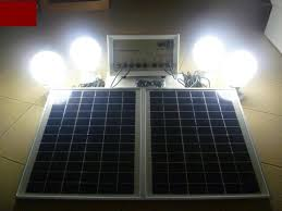 diy 12v solar light system with 4 led light bulbs panel phone charger