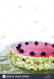 Jelly Birthday Cake Design Birthday Cake With Black Cherry Red Jelly Almond Flakes
