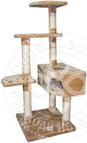 Купить Дом-<b>когтеточка для кошек Foxie</b> трехуровневый угловой ...