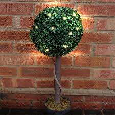 Artificial Topiary Trees  EBayArtificial Topiary Trees With Solar Lights