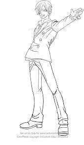 Disegno Di Sanji Di One Piece Da Colorare