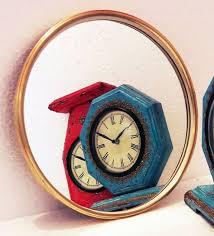 elan round decorative wall mirror in brass frame by d dass