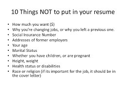 Things Not To Put A Resume Resume Ideas What Not To Put In A Resume