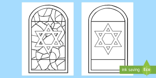 Glass Template Stained Glass Star Of David Window Template Worksheet