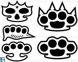 Brass knuckles california vinyl sticker metal motorcycle 1%er club socal norcal. Line Brass Knuckle Monogram Clipart Cutting Files Svg Pdf Etsy
