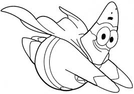 Small Picture Super Patrick Star Flying Coloring Page To Print Out Nick Jr