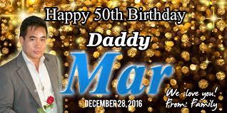 Happy 50th Birthday Tarpaulin Designs Maria Vanessa Bernadette Tolentino Layout Designs