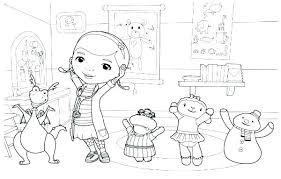 Printable Doc Mcstuffins Coloring Pages Doc Coloring Page Free