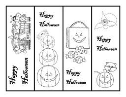 A set of eight cute free printable halloween coloring pages with a spooky black cat and a scary mask. Halloween Bookmarks By Team Pineapple Store Teachers Pay Teachers
