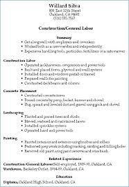 Resume For Construction Worker Construction Worker Skills Resume Igniteresumes Com