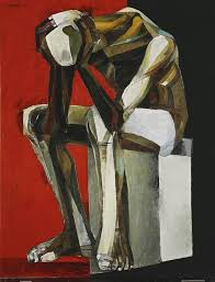 thinking man 1977 oil on canvas 115 by 89 cm ang kiukok