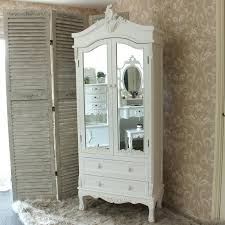 white wood wardrobe armoire shabby chic bedroom. White Bedroom Armoire Wardrobe Perfect Design Small With Drawers Wood Shabby Chic . V