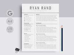 Modern Looking Font For Resume Google Docs Resume Template By Resume Templates On Dribbble