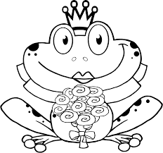 Funny Frog Queen Coloring Pages Print Out Sewing Of All Types