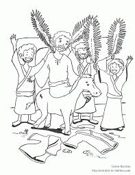 Small Picture Palm Sunday Coloring Pages Coloring Home