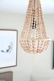 how to make a wooden chandelier how to make a wood bead chandelier wooden bedside lamps