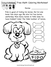 Kindergarten Math Coloring Pages - Coloring Home