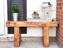 front door benchDIY Outdoor Bench Free Plans  Cherished Bliss