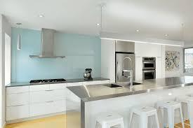 kitchen backsplash white cabinets. Light Blue Painted Backsplash Kitchen White Cabinets