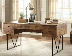 Furniture Coaster Salvaged Cabin Writing Desk With 4 Drawers