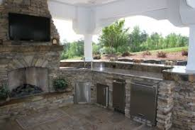 outdoor kitchens with fireplace. Simple With Luxury Outdoor Kitchens  Fireplace Inside With
