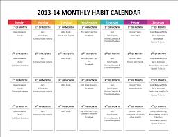 Forever Calendar Template Life Gone Like Rainbows