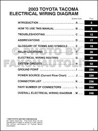 2003 toyota tacoma pickup wiring diagram manual original 2005 toyota tacoma wiring diagram at 2004 Toyota Tacoma Wiring Diagram