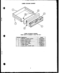 Rsd30 gas ranges lower storage drawern200e09 gas ponents parts diagram