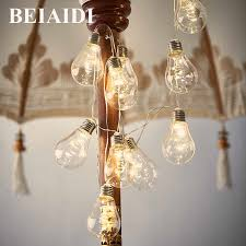 Big Bulb String Lights Us 13 89 30 Off Beiaidi 4m 10pc Big Globe Bulb Led String Lights Aa Battery Christmas Fairy String Garland Wedding Party Garden Patio Lighting In