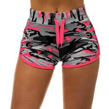 <b>Sfit Yoga Shorts</b> Women Sexy Jacquard Straps Style Hem Yoga ...