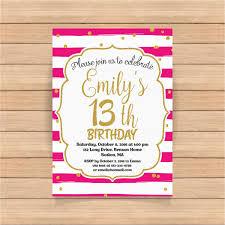 Free 13th Birthday Invitations Free 13th Birthday Invitations 13th Birthday Invitation