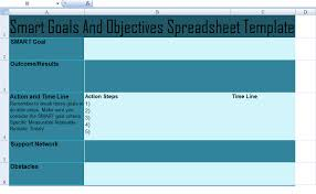 Smart Goals Template Get Smart Goals And Objectives Spreadsheet Template Excel