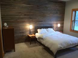 slatted barn wood wall rustic bedroom