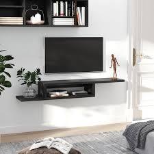 homcom wall mounted media console
