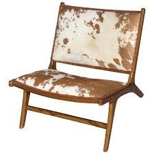 the hampton chair in handmade teak and cowhide at stdibs