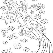 Rapunzel Coloring Pages Pdf With Disney Tangled Coloring Pages